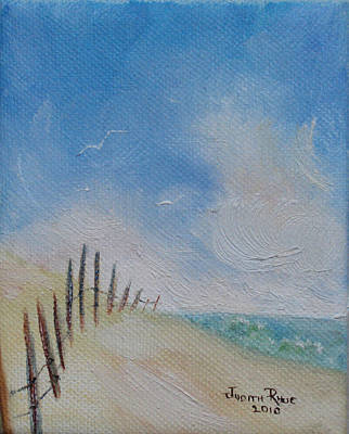 Painting - Beach Fence by Judith Rhue