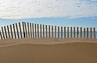 Beach Fence Art Print by Maria Dryfhout