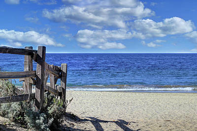 Photograph - Beach Fence by Richard Stephen