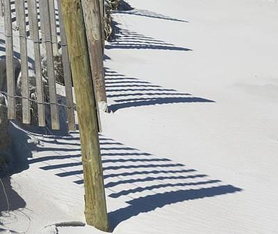 Photograph - Beach Fence Shadows by Ellen Meakin