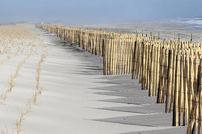 Beach Fence Shirley New York Art Print