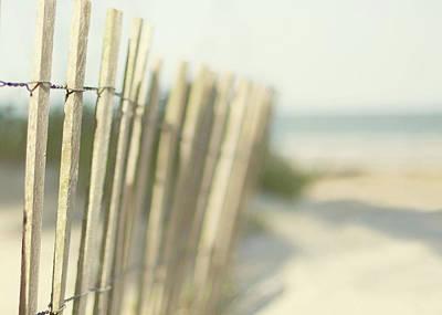 Fence Photograph - Beach Fence by Tina Lee