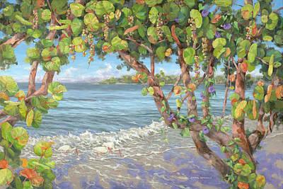 Fruit Tree Art Painting - Beach Fiesta by Carol McArdle