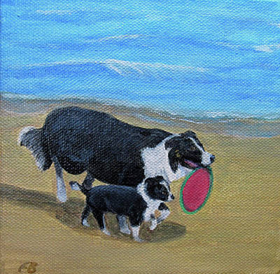 Painting - Beach Frisbee by Fran Brooks