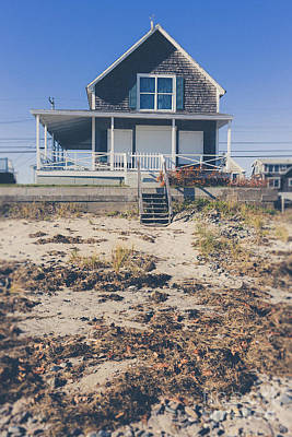 Beach Front Cottage Art Print