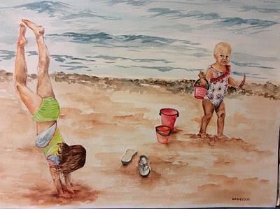 Painting -  Beach Fun. 1 by Ellen Canfield