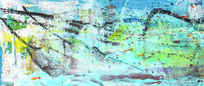 Painting - Beach Fun Art - Splash Blue Abstract Painting by Modern Art Prints