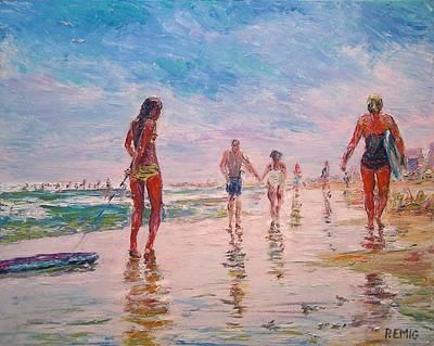 Painting - Beach Fun by Paul Emig