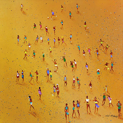 Wall Art - Painting - Beach Games by Neil McBride