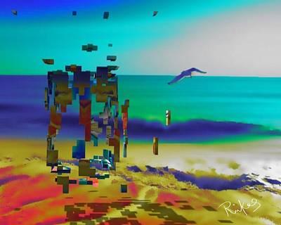Digital Art - Beach Geometry  by Diana Riukas