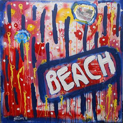 Painting - Beach by Gh FiLben