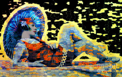 Digital Art - Beach Girl 1920s - Pop Art by Ian Gledhill