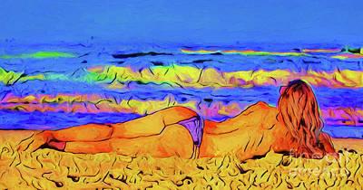 Photograph - Beach Girl 21618 by Ray Shrewsberry