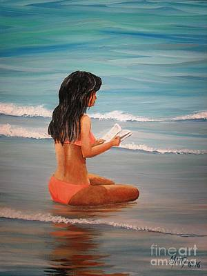 Beach Girl Print by Matty Dreadlocks