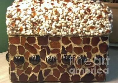 Beachglass Mixed Media - Beach Glass, Kukui Nut And Shells by Gordon Matthews