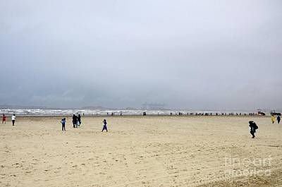 Photograph - Beach Goers At Sea View Corniche By Arabian Sea Karachi Pakistan by Imran Ahmed
