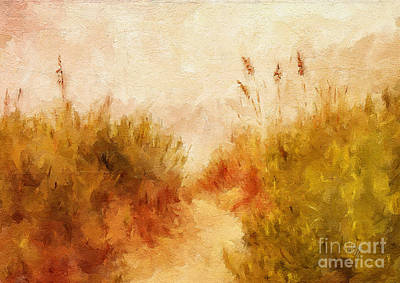 Digital Art - Beach Grass by Lois Bryan