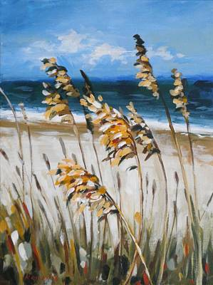 Painting - Beach Grass by Outre Art Natalie Eisen