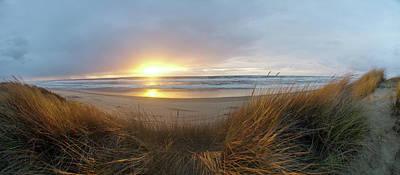 Photograph - Beach Grass Sunset by Adria Trail