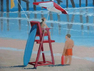 Beach Guards On Duty Art Print by Robert Rohrich
