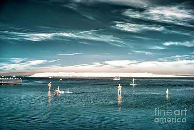 Photograph - Beach Haven Blue Infared by John Rizzuto