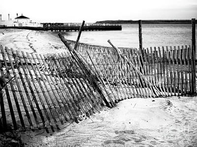 Photograph - Beach Haven Dune Fence by John Rizzuto