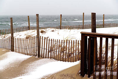 Photograph - Beach Haven Dune Snow At Long Beach Island by John Rizzuto