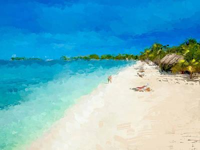 Mixed Media - Beach Holiday  by Anthony Fishburne