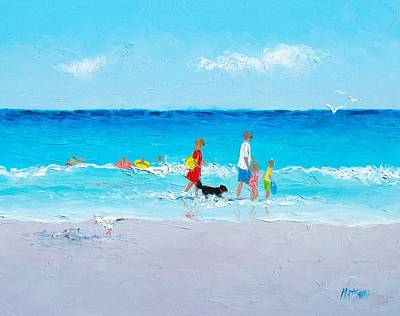 Beach Scenes Painting - Beach Holiday by Jan Matson