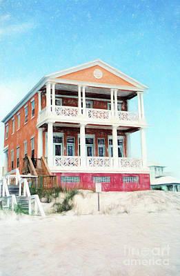 Beach House And Sandy White Florida Sand Print by Vizual Studio