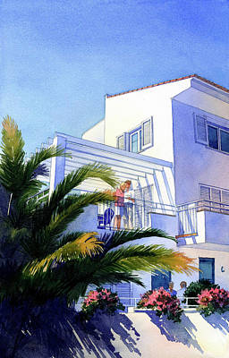 Beach House At Figueres Art Print