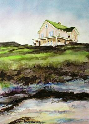 Beach House Block Island Art Print
