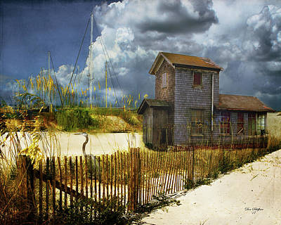 Digital Art - Beach House by Don Schiffner