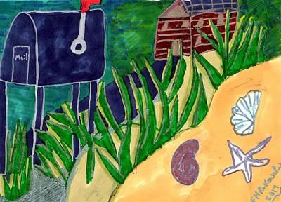 Beach House Art Print by Elinor Helen Rakowski