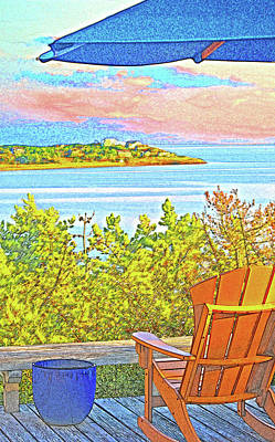 Digital Art - Beach House On The Bay by William Sargent