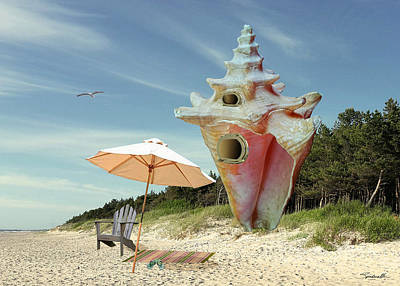 Digital Art - Conch House by Spadecaller