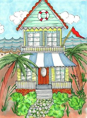 Beach Cottages Drawings