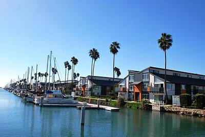 Photograph - Beach Houses And Palm Trees - Channel Islands Harbor by Matt Harang