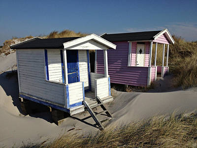 Photograph - Beach Houses At Skanor by Michael Maximillian Hermansen