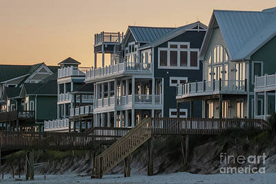 Photograph - Beach Houses At Sunset by Scott Hervieux