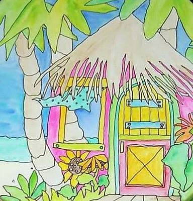 Painting - Beach Hut by Coni Brown