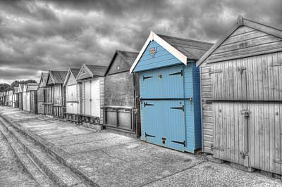 Photograph - Beach Hut In Isolation by Chris Day