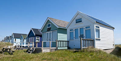 Photograph - Beach Hut Row by Mick House