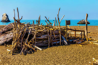 Beach Hut Sonoma Coast Art Print