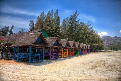 Beach Huts Art Print by Adrian Evans