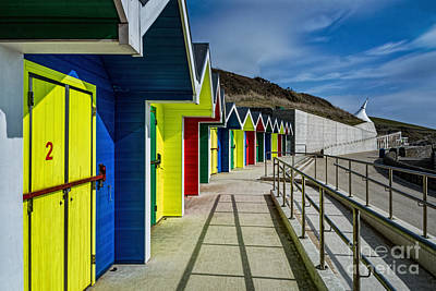 Travel - Beach Huts At Barry Island by Steve Purnell