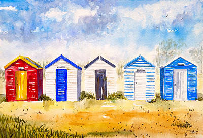Southwold Painting - Beach Huts At Southwold by A Portrait Of Europe