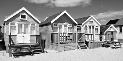Photograph - Beach Huts Black And White by Mick House