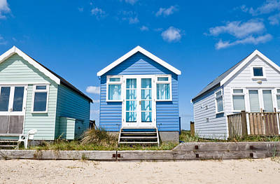 Photograph - Beach Huts Blue by Mick House