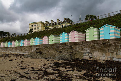Photograph - Beach Huts Castle Beach Falmouth by Brian Roscorla